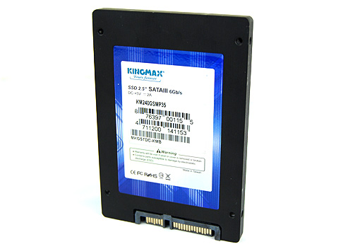 The Kingmax SMP35 Client looks just like any other 2.5-inch SSD drive.