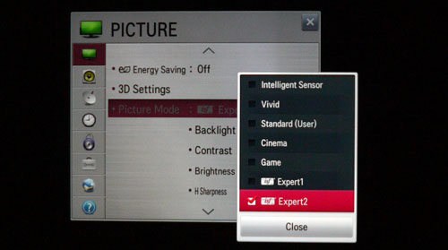 This model panders both to AV enthusiasts as well as novices. Advanced users will relish the highly customizable Expert modes while those who are less familiar with a TV's picture settings might want to fall back on the Cinema preset.