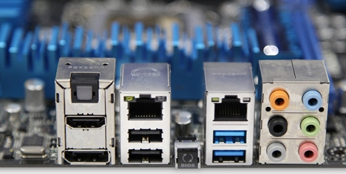 There is a pair of Gigabit LAN ports; however, there seems to be only two USB 3.0 ports available.