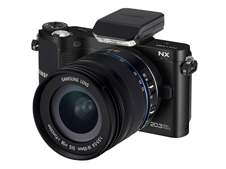 The mid-level Samsung NX210.
