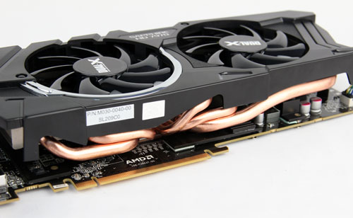 Sapphire's cooling system is similar to ASUS's, but with five instead of six cooling pipes.