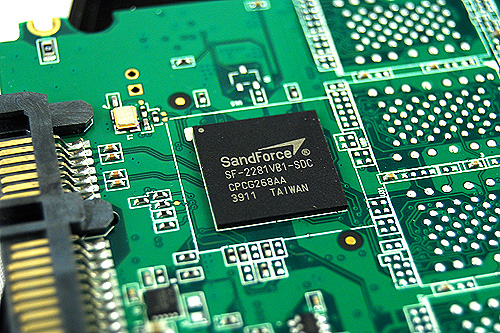 The SandForce SF-2281 controller, which is also used on many other SSD drives today.