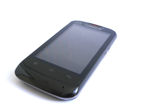 It has that generic look of a smartphone, but with a few hints of the color red to add a bit of an exciting feel to it.
