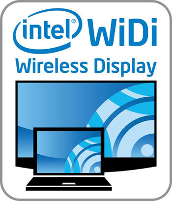 Upcoming laptops with Ivy Bridge processors and an updated Centrino wireless module will have integrated WiDi support as well. Look out for this label on Smart TVs and notebooks if you want to enjoy wireless HD video transmissions without the hassle of cables or joining networks.