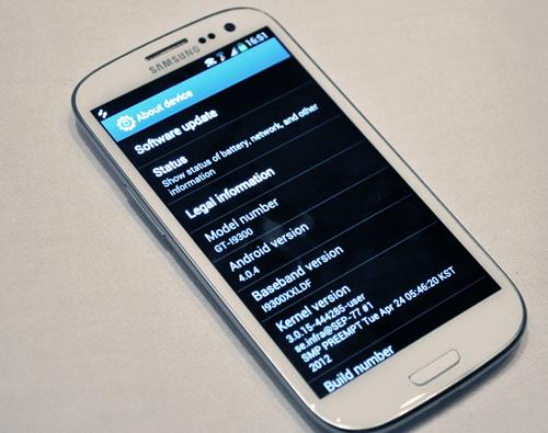 Yep, it's Android 4.0 alright. Call it a case of déjà vu.