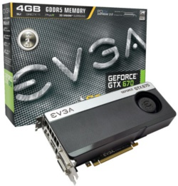 EVGA GeForce GTX 670 4096MB Superclocked+ w/Backplate
