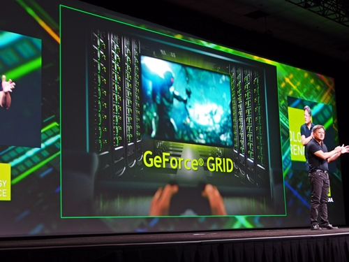 GeForce GRID is the new cloud technology announced by NVIDIA CEO Jen-Hsun Huang at his keynote address at GTC 2012.