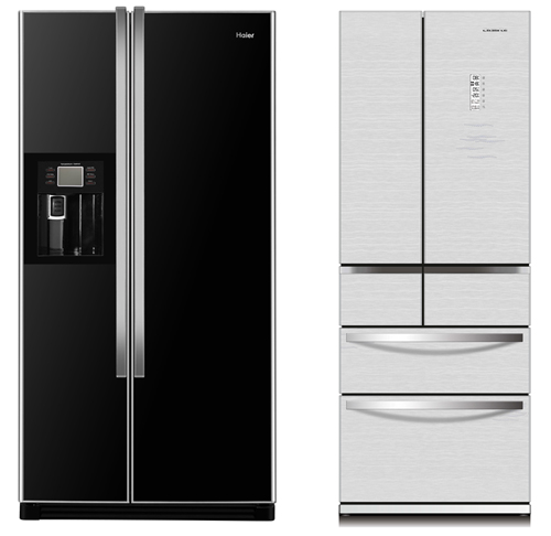 Refrigerators that have cooling tower air flow system and inverter technology (Image source: Haier)