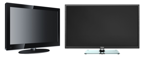 LCD/LED TVs with energy saving feature, 3D, internet, etc. (Image source: Haier)