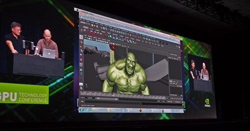 "In this demonstration, Grady Cofer, the visual effects supervisor at Industrial Light & Magic, used a Macbook Air to remotely access their Nuke, a rendering application hosted at ILM's server farm to make changes to a scene from the movie ""The Avengers""."