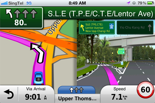 Navigational aids such as junction view helps guide you to your destination.