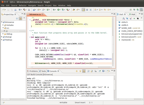 NVIDIA Eclipse-Based IDE for GPU Computing on Linux and Mac