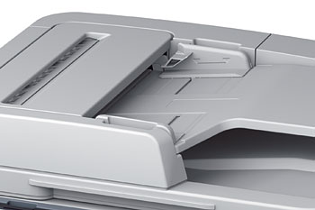 The Oki MB491 has a 50-sheet reverse ADF. Of course, you can use the document glass if you want to.