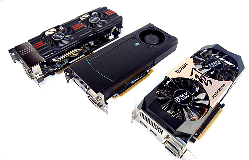 Along with the reference GeForce GTX 670 from NVIDIA, we will also be taking a close look at two customized examples from ASUS and Palit.