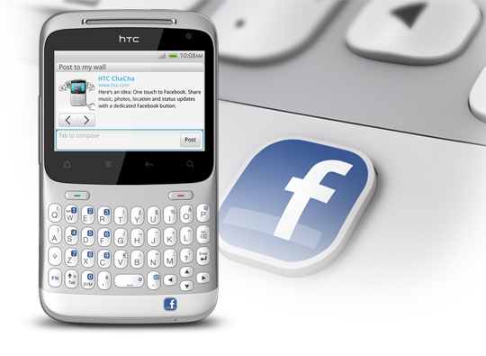 Remember when we all thought the HTC ChaCha was the official Facebook phone? Well, that might still happen. (Source - HTC)