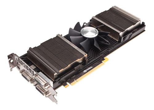 With the cover removed, we can see the GeForce GTX 690's impressive array of cooling fins. And on the base plate, you'll notice airflow guides embedded as part of its design to help channel the fast moving air more effectively.