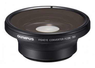 The Fisheye Convertor Lens lets you shoot with a wider angle on the TG-1.
