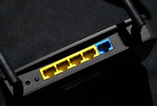 It's mostly standard fare on the back panel, including a WPS button and Reset pinhole. However, the router's affordable $59 price tag can be credited to its 100Mbps-based Ethernet ports versus Gigabit ports found on premium networking wares.