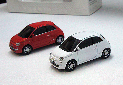 Something more cutesy for the ladies perhaps? The retro-chic Fiat 500.