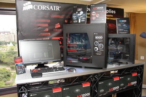 As one of the top PSU manufacturers, Corsair looks to lead the pack as they are one of the first to release a modular and digital ATX power supply. Seen here is a system powered by the Professional Series AX1200i that combines DSP control with Corsair Link technology to bring about an all-new level of monitoring and control. Also, the digital signal processor in the AX1200i adjusts on-the-fly to provide users with incredibly tight voltage regulation, clean and stable power and efficiency