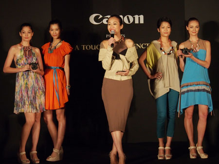 The Canon EOS 650D at its launch in Singapore.