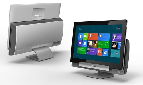 Pictured here, the ASUS Transformer AIO seems less than the sum-of-its-parts. It comes to life when it is removed from its desktop dock that actually houses a large part of the system's computing power.