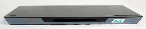 The Panasonic DMP-BDT320 is quite slim but substantially wide with dimensions of 430 x 28.5 x 179mm (L x H x D).