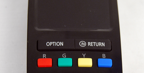 The standard control buttons to navigate the menus are also provided.