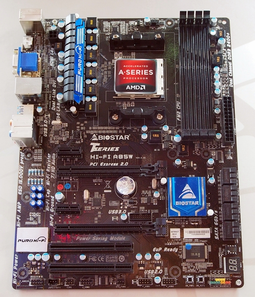 The board has four DIMM slots that supports up to 32 GB of dual-channel DDR3-2400+ memory. It has two PCIe 2.0 x16 slots, PCIe x1 slots and two legacy PCI slots. The board has the same standard video ports (HDMI, DVI-I and D-Sub) as its mATX counterpart; however, it has eight SATA 6Gbps connectors.