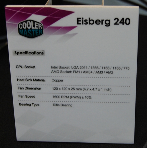 The specifications of Eisberg 240.