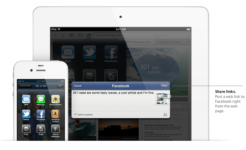 iOS 6 will feature a system-wide login for Facebook which will allow you to log in just once for all apps running on iOS.