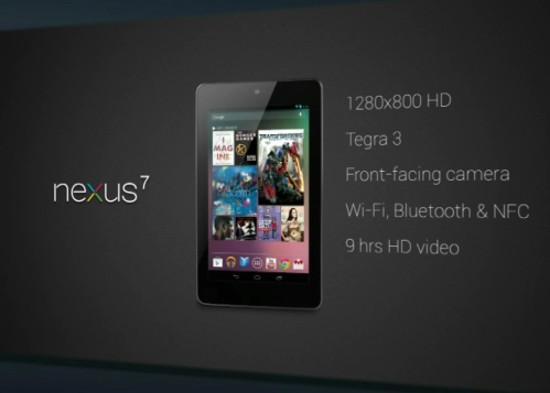 Here's  quick overview of the specs of the Google Nexus 7. Do note that the tablet comes only in Wi-Fi version.
