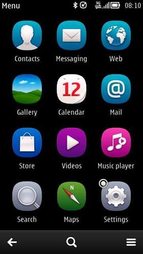 App icons/shortcuts have been given a facelift on Symbian Anna and remains the same on Belle.