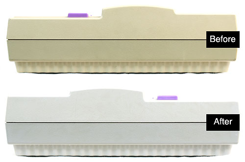 Here's a comparison of the difference before and after the cream peroxide treatment on the SNES.