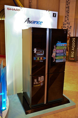 The Sharp Avance is a sleek refrigerator indeed!