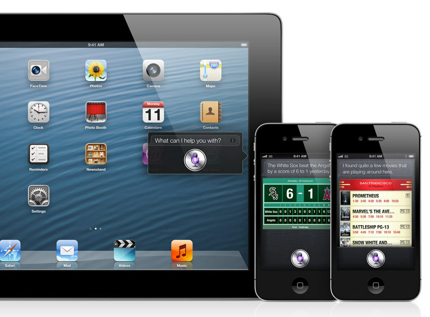 Yep, Siri will come to the new iPad with the iOS 6 update.