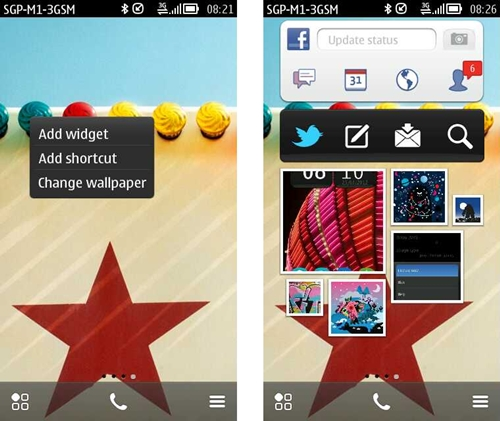 You have up to six home screens to place your favorite apps, shortcuts and widgets. You can assign different wallpapers to each individual homepage or add widgets by simply long-pressing on the screen.