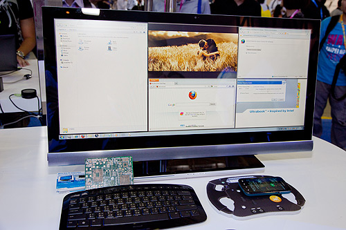 This prototype AIO PC comes with a 21:9 aspect ratio high resolution display and its base supports wireless charging. Simply means, your wireless keyboard and mouse will not require any battery change since the proximity with the AIO's base would allow it to keep its charge topped up when not in use.