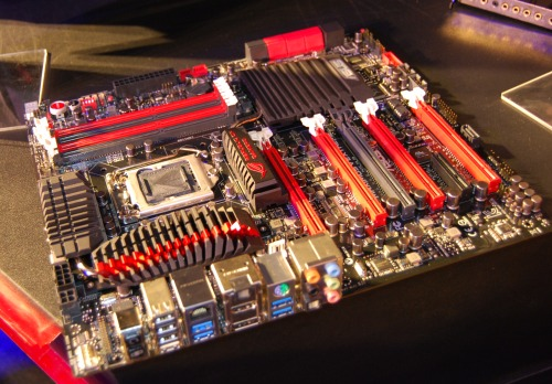 Another view of the Maximum V Extreme motherboard.