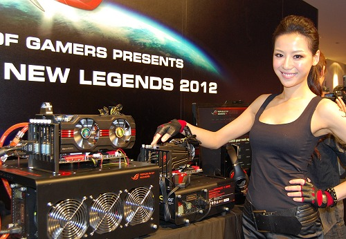If you need more proof how awesome is the Matrix HD 7970, you can gladly ask her.