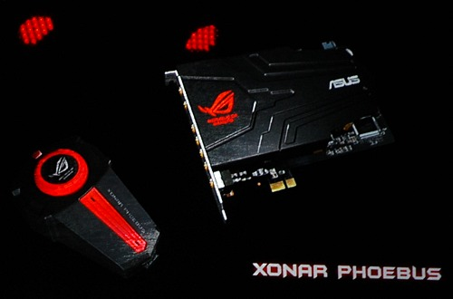 The ASUS Xonar Phoebus gaming soundcard set.