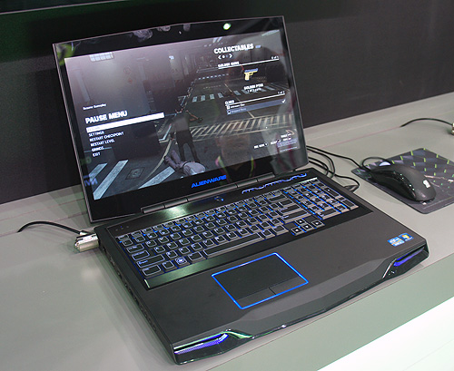 The Alienware M17x is one of the notebooks to debut with the GeForce GTX 680M. Alienware has a larger M18x model that can be specced with dual GeForce GTX 680M in SLI!