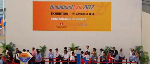 BroadcastAsia 2012 is underway at Suntec Convention Center right now.