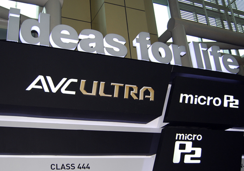 Panasonic also showed off their new video format AVC Ultra.