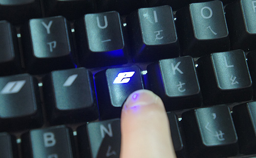 One of the five LED modes configures the keyboard such that the key only lights up if its depressed. Imagine typing in the dark with it!