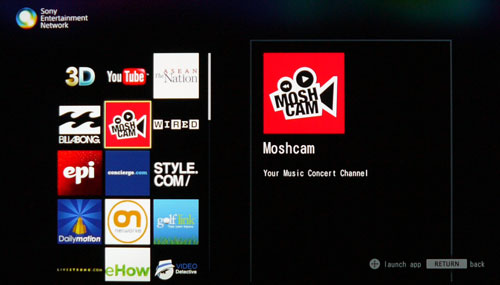 Although Sony has not beefed up their video streaming selection by much, there are some gems tucked within, like Moshcam for example with its wide compilation of music videos.
