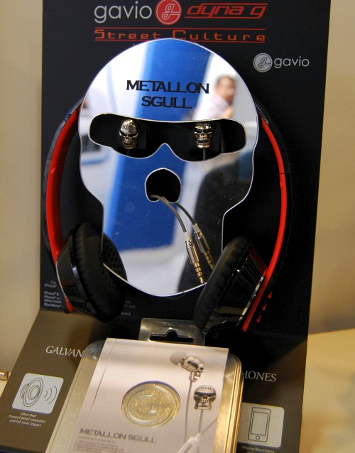 Gavio's Metallion Sgull - galvanized aluminum stereo headphones.