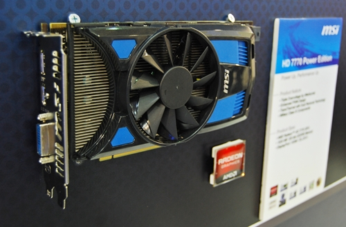 The MSIHD 7770 Power Edition with its Transthermal cooler in a single fan mode.