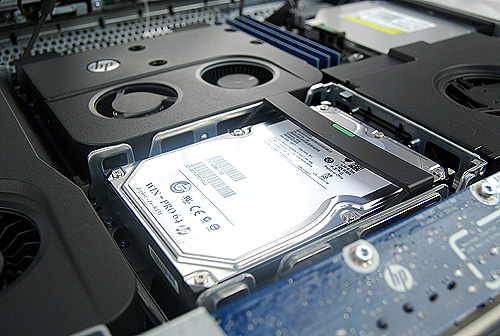 The HDD bay is good for either a single 3.5-inch hard drive or two smaller 2.5-inch hard drives/SSDs.