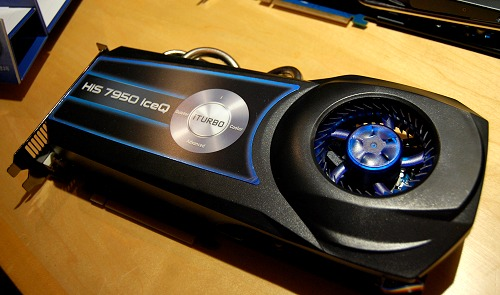 Here's a racing-inspired IceQ cooler on the HIS 7950 IceQ graphics card.